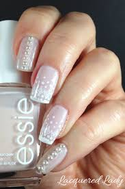Classic Design Nails Classic Lace Design And Pearls Nail Art