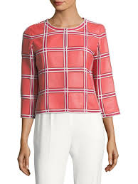 escada windowpane leather jacket pink women s 100 high quality
