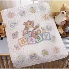 Bucilla Baby Blocks - Crib Cover - Stamped Cross Stitch Kit 45402 ... & Baby Blocks - Crib Cover - Stamped Cross Stitch Kit Adamdwight.com
