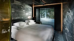 Spa Inspired Bedrooms Morphosis Designs Bedrooms For Hotel At Zumthors Vals Spa