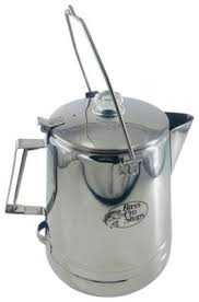 Put the tube and the chamber assembly back. Bass Pro Shops 28 Cup Stainless Steel Campfire Percolator Bass Pro Shops