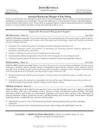 New Restaurant Manager Resume Skills List Prepossessing Resume