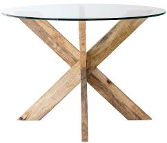 glass top for dining table melbourne. cross-leg dining table with round glass top for melbourne