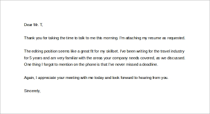sample thank you letter after phone interview 12 free documents 6