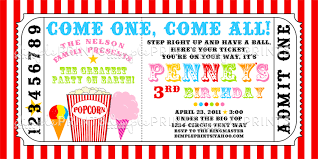 Invitation Ticket Template Snowcone Popcorn and Cotton Candy Ticket Invite Dimple Prints Shop 43