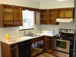 Updating Oak Kitchen Cabinets Refinishing Oak Kitchen Cabinets Before And After Floor Decoration