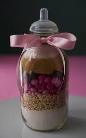 baby shower favor i used smooth ball canning jars that have a two piece cover a flat metal lid covered by a on ring to secure the