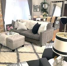 grey fluffy rug gray couch living room ideas lamp shade and colour palette uk