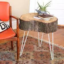 diy rustic modern tree stump table
