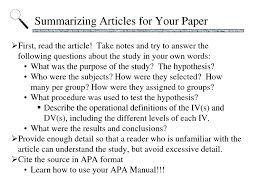 Research Paper Layout Apa Term Paper Abstract Format