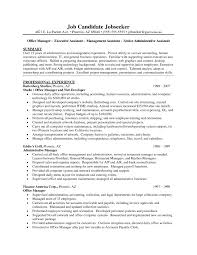 Template Resume Examples Personal Assistant Copy Administrative