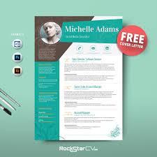 Unique Resume Template Design Resume Template Free Creative Templates 24 Colors Vector 24
