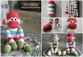 Sock Monkey Pattern Enchanting DIY Crochet Amigurumi Sock Monkey With Free Pattern