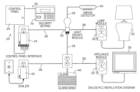 patent us6822555 fire system implemented power line patent drawing
