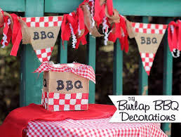 DIY Burlap BBQ Decorations