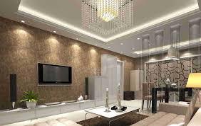 Wall Design For Living Room Brilliant Wallpaper For Living Room Wall On Interior Design For