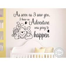 Nursery Wall Sticker Winnie The Pooh And Piglet Bedroom Wall Quote