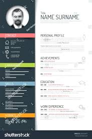 Colorful Resume Templates Template Colorful Resume Template Vector Minimalist Dark Stock 35