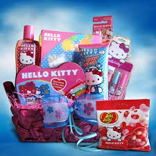 gift basket idea o kitty toiletry gift basket ideal for craft ideas