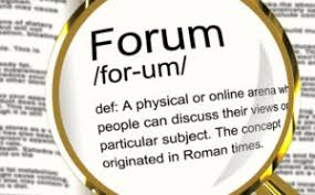 Forums are developed specifically for discussions and asking questions based on things you might need clarity on.