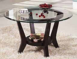 cherry coffee table end tables 3pc set wclear glass top round e551a3bc4f32706b33236e0de28