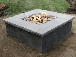 concrete patio with square fire pit. DIY Concrete Fire Pit Tutorial Patio With Square