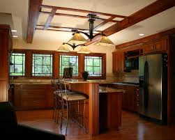 prairie style lighting with metal hanging pot racks kitchen craftsman and ceiling