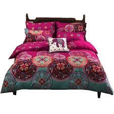 bohemian 4 3pcs3d bedding sets sham boho mandala duvet cover set winter bedsheet queen king