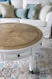 coastal style coffee table makeover