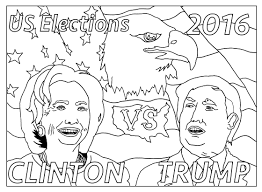Small Picture Free coloring page coloring adult us presidential elections 2016