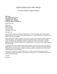 graphic designer cover letter  cover letter examples