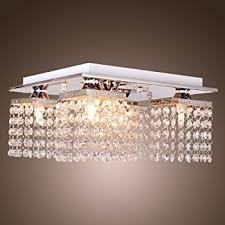 flush mount ceiling lights modern. lightinthebox crystal ceiling light with 5 lights electroplated finish, modern flush mount fixture