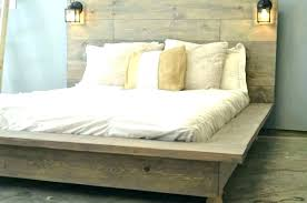 Tall Platform Bed Frame For Beautiful White Queen With Headboard ...