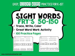 Sight Words — Mommy is My Teacher