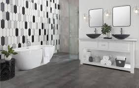 Porcelain tiles for kitchens Grey Wood Rooms Bathroom 9 Vista Gray Ceramic Tile White Picket Ceramic Tile The Home Depot Bathroom Gallery Floor Decor