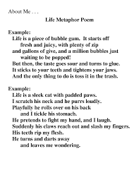 extended metaphor poems s literature extended metaphor example