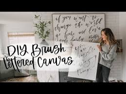 brush lettering on canvas