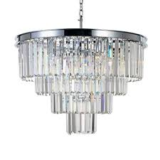 Image Island Meelighting Chrome Crystal Modern Contemporary Chandeliers Pendant Ceiling Light 4tier Chandelier Lighting For Dining Amazoncom Amazoncom Meelighting Chrome Crystal Modern Contemporary