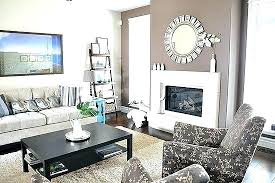 mirror above fireplace decorative round with heavy weight metal installed