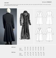 Trench Coat Pattern Delectable COSPLAY BY McCALL S SEWING PATTERN LINED COATS SIZE 48 48 M48