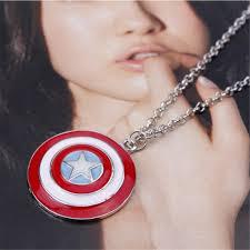 TKHNE <b>Hot</b> Captain America shield <b>fashion personality</b> necklace ...