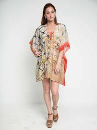 Indigo Vermillion Shibori Cotton Silk Lace Up Kaftan Dress Maati