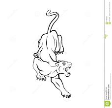 татуировка пантеры иллюстрация вектора иллюстрации насчитывающей