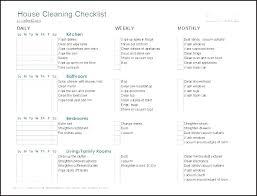 Weekly Household Cleaning Schedule Weekly House Cleaning House Cleaning Schedule Daily Weekly Monthly