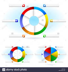 Cbt Pie Chart Pie Charts Illustration For Design On White Background