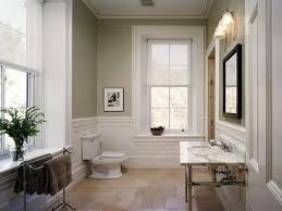 Neutral Wall Color With White Trim Line For Small Bathroom Ideas ...