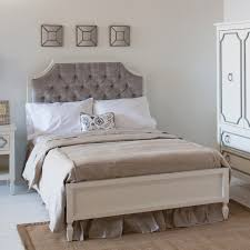 Stunning Gray Tufted Bed