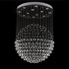 sphere lighting fixture. Z D80CM X Height 110CM Modern Round Crystal Chandelier Rain Drop Sphere Design Ceiling Light Fixture For Restaurant Stair Lamps-in Pendant Lights From Lighting