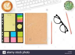 Office Cover Page Blank Notebook Cover Page Todo List On Modern White Office Desk