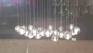 orion 25 light led rectangular floating glass chandelier intended for glass ball chandelier